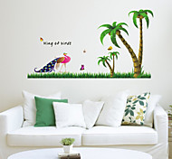 Coconut Palm Peacock PVC Wall Sticker Wall Decals