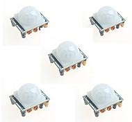 5PCS HC-SR501 Infrared Human Body Induction Module Pyroelectric Infrared Sensor Probe for Arduino