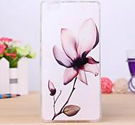 patrón de flores caso de la cubierta de TPU para Huawei p8 Lite