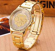 orologi da donna svizzero al quarzo orologio lega tendenza di moda di orologi in acciaio