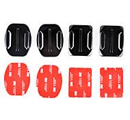 2x base piatta e 2x supporti curvi con cuscinetti adesivi 3m per GoPro eroe 4/3 + / 3/2/1 / sj4000 / sj5000 / sj6000