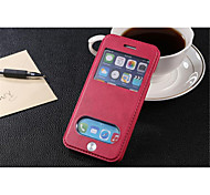 InternatiOnal Version Of The Pu Leather Specially Designed Body Open The Window For iPhone 6 (Assorted Color)