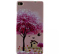 Cover Back Case Pink House TPU Soft Case Special Design for Huawei P8