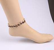 Fashion Hollow Smiley Anklet