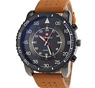 JUBAOLI® Men's Military Style Khaki PU Band Quartz Wrist Watch Cool Watch Unique Watch