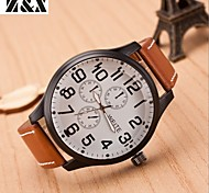 Men's Fashion Big Dial Sport Quartz  Wrist Watch(Assorted Colors)