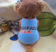 Perros Camiseta Azul Verano Letra y Número