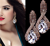 Fashion Set Auger Droplets X-type Crystal Earrings