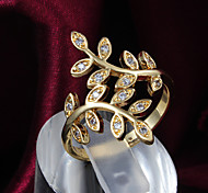 Z&X® 18K Gold Europe Leaves Statement Rings Party/Daily 1pc