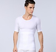 New Arrival Men's Sexy Slimming Body Shaper Belly Fitness Thermal Underwear men Sport  Shirt Corset