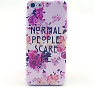 Rose Flower Normal People Letter Pattern Hard Cover Case for iPhone 5C