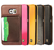 iCoverCase® Genuine Leather Lambskin Sheep Skin Flip Cover Wallet Card Slot Case Stand for Galaxy S6 (Assorted Colors)
