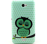 Sleeping Owl   Pattern TPU Soft Case for Sony E4