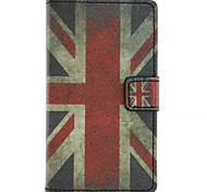 Union Jack Pattern Wallet Card PU Case With Stand For Microsoft Lumia 435