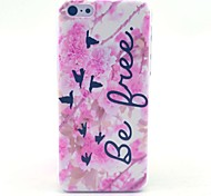 Be Free Bird Pattern Hard Cover Case for iPhone 5C