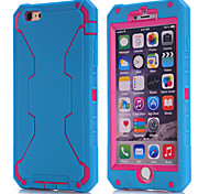 2015 new for iPhone6 three in one robot shell (blue silicone + Red PC)