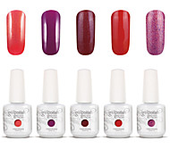 Gelpolish Nail Art Soak Off UV Nail Gel Polish Color Gel Manicure Kit 5 Colors Set S103