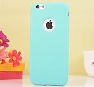 Назначение iPhone X iPhone 8 iPhone 6 Plus Чехлы панели Защита от удара Задняя крышка Кейс для Сплошной цвет Мягкий Термопластик для Apple