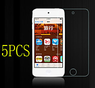 5pcs alta transparencia cristalina lcd protector de pantalla transparente con paño de limpieza para el iPod touch 4