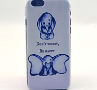Cute Elephant Don't Worry Be Happy Pattern Hard Case Cove for iPhone 6