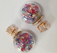 Luxury Crystal Stud Earrings for Women Cute Zircon Jewelry Earrings Studs Brand Design