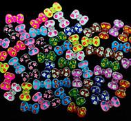 N126 100pcs/set Cute Colorful Bow Acrylic Nail Sticker DIY Nail Design Fashion Nail Phone Bag Dress Accessory