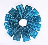The Latest COOL DIY Nail Art Stamp Stamping Image Template Plate/Nail Stencils(Assorted Pattern)