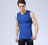 Quick Dry UV Athletic Mens Vest Sports Apparel Compression Bodybuilding Sexy Shirts 5 Color to choose