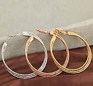 Women's Fashion High Quality  18K Gold Plated Hoop Earrings