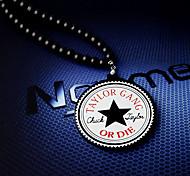 Star Disk Hiphop Necklace