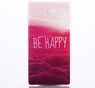 Red Cloud Pattern TPU Material Phone Case for Sony M2