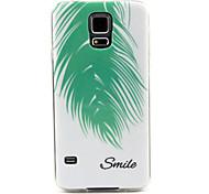 Feder Lächeln-Muster-TPU weiche Tasche für Samsung Galaxy i9600 s5