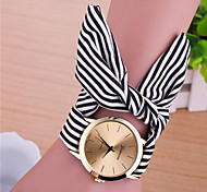 Partysu Stripe Cotton Tape Wrist Watch(Rose Red/Skyblue/Black)(1Pc) Cool Watches Unique Watches