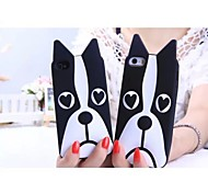 Silicone Carton Cellphone Case with Dog Design for Samsung Galaxy E5