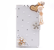 handmade Diamond Pearl Liebe Quaste PU-Leder Ganzkörper-Fall mit Ständer für Samsung Galaxy Note 2/3/4/5