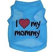 """Lovely """"I Love My Mommy"""" Pattern Terylene Vest for Dogs (Assorted Sizes)"""