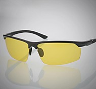 Sunglasses Men's Lightweight Wrap Black / Silver Sunglasses / Goggles / Driving / Night Vision Goggles Half-Rim