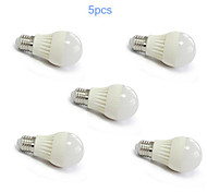 5pcs MORSEN® E27 7W 25x2835SMD 600LM Support Dimmable Light LED Ball Bulb