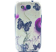 Butterfly Pattern PC Hard Case for Samsung S3 I9300
