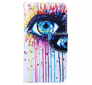 Eyes  Pattern PU Leather Phone Case For Samsung  Galaxy A3