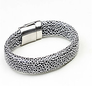 Unique Design Snake Pattern Titanium-Steel Bracelet(White And Black)(1Pc)