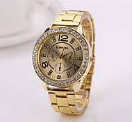 2015   Geneva Women Watches  2015 New Alloy Steel Quartz Watches WomanWatch Brand Analog Watches Top Quality