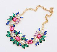 Fashion Colour Gem Necklace