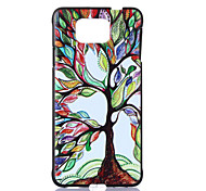 Colors Tree Pattern  Printing Black Matte PC Material Phone Case for Samsung Galaxy Alpha G850