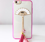 Pink diamond fan Phone Case for iPhone5/5S