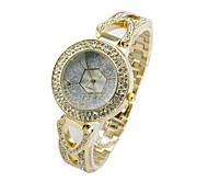 2015 neue Design-Luxus-Legierungsband Frauen Rhinestone-Quarz-Uhren Diamant Dame Armbanduhr relogio