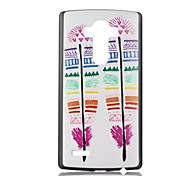 Feather Pattern PC Phone Case for LG G4