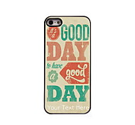 Personalized Gift It's A Good Day Design Aluminum Hard Case for iPhone 5/5S