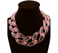 Women's Fashion Colored Jelly Twist Braided Necklace