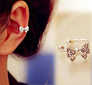 Ear Cuffs Alloy Simulated Diamond Silver Jewelry Daily 1pc